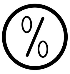icon percent vector image vector image