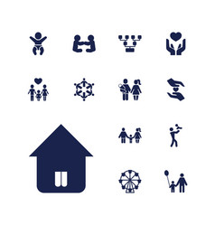 13 family icons vector