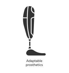 Adaptable prosthetics glyph icons set missing vector