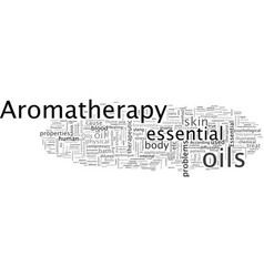 Aromatherapy scent through your skin vector