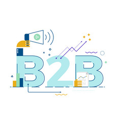 b2b business to business word vector image