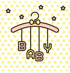 baby word hanging on rack vector image