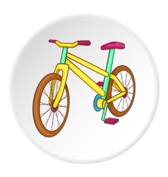 Bicycle icon isometric style vector