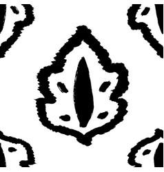black ornament background vector image