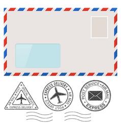 Blank envelope and postmark elements vector