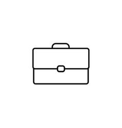 Briefcase bag icon outline vector