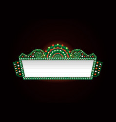 brightly christmas theater glowing retro cinema vector image
