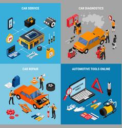 car service concept icona set vector image