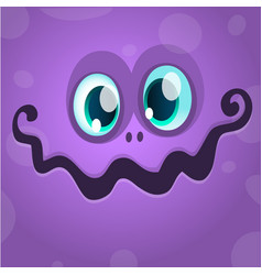 Cartoon monster face avatar vector