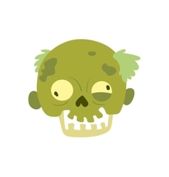Cartoon zombie character isolated vector
