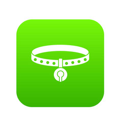 cat collar icon digital green vector image