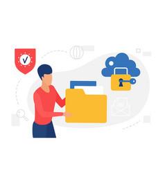cloud storage internet technology concept man vector image
