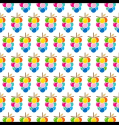 colorful grapes bunch pattern design vector image