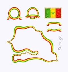 colors senegal vector image