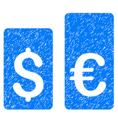 Currency rate bars grunge icon vector