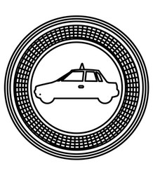 figure emblem taxi side car icon vector image