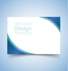 Flyer template wave design 4 vector