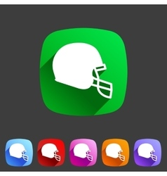 Football helmet flat icon sign symbol logo label vector