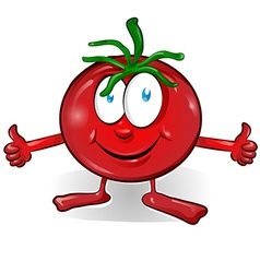 fun tomato cartoon vector image