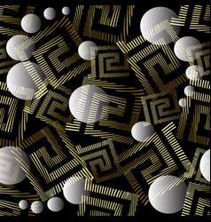 geometric abstract 3d greek key meander vector image