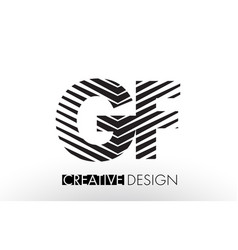 gf g f lines letter design with creative elegant vector image