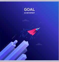 goal achievement - modern isometric web vector image
