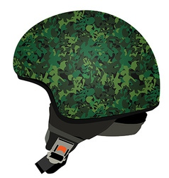 Green military helmet vector image