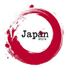 Grunge japanese circle style vector