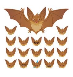 Hallowen character emoticon set vector