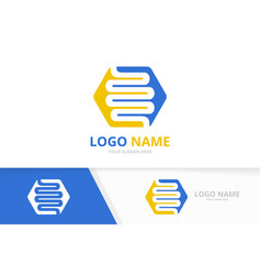 Healthy digestion logotype design template colon vector