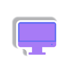 In paper sticker style tv vector