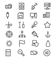 Internet line icons 4 vector