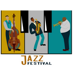 jazz band on a decorative background in the form vector image