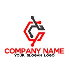 line letter c logo vector image