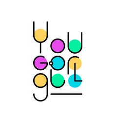 Linear lettering you go girl vector