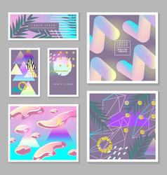 Liquid abstract templates set fluid colors vector