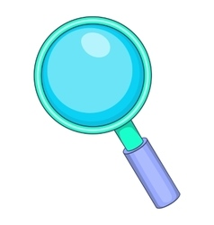 Magnifying glass icon cartoon style vector image