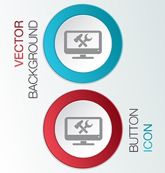 monitor symbol settings vector image