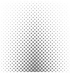 Monochrome geometrical flower pattern - abstract vector
