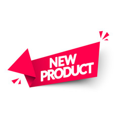 new product arrow label modern red web banner vector image