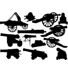 old artillery set vector image