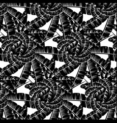 pattern with hand drawn palm vector image