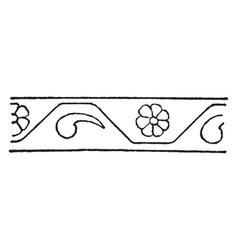 Persian design is a border design vintage vector