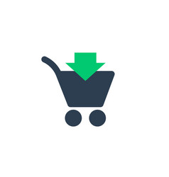 Purchase add to shopping cart icon on white vector