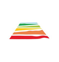 Rainbow land logo abstract vector