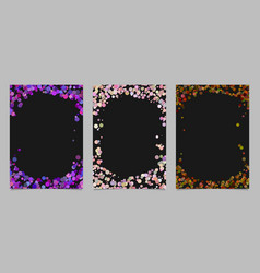 random dot background round brochure border vector image