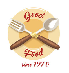 rgood food restaurant emblem vector image