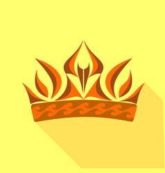 royal symbol of power icon flat style vector image