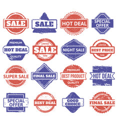 sale rubber stamp vintage shopping discount vector image