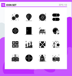 Set 16 modern ui icons symbols signs for movie vector